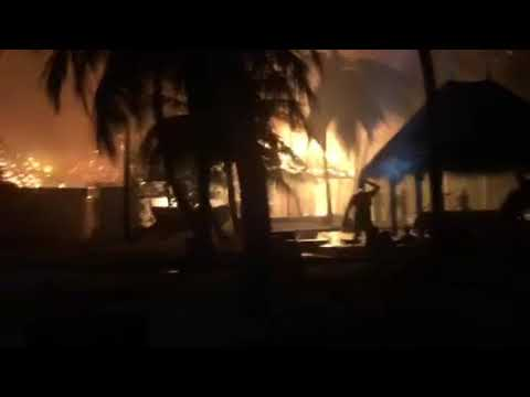 Up in flames: Maldives private island luxury resort burns, tourists evacuated