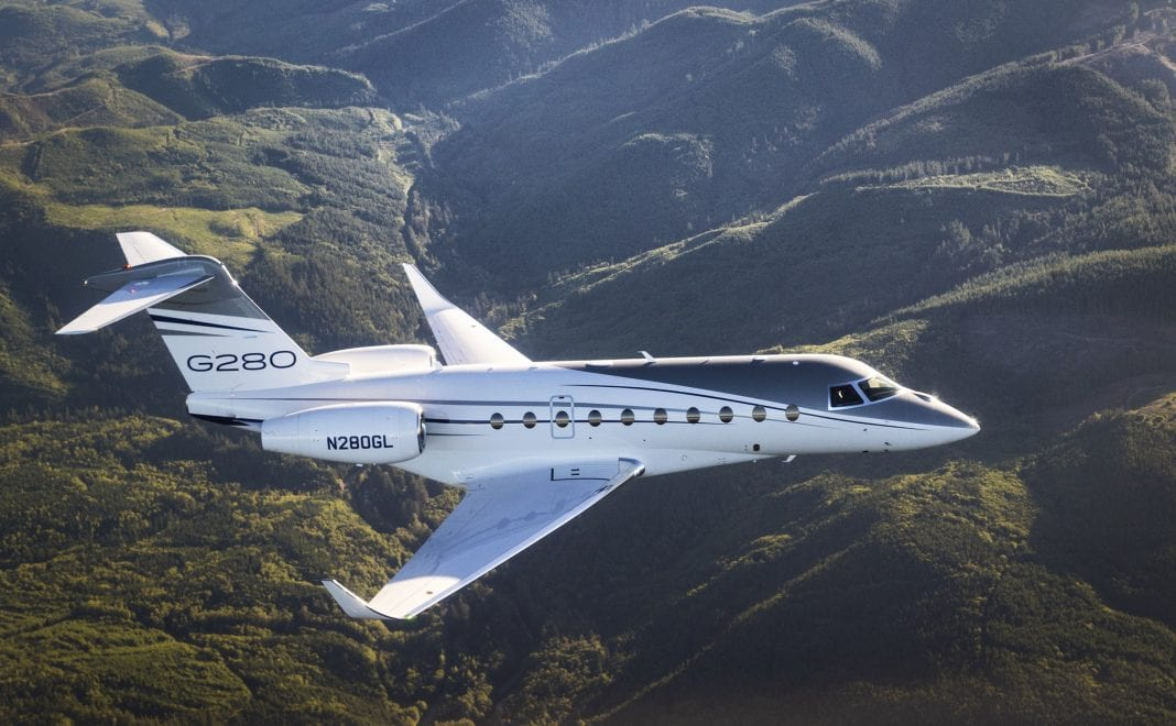 Gulfstream G280 jet sets city-pair record on renewable fuel