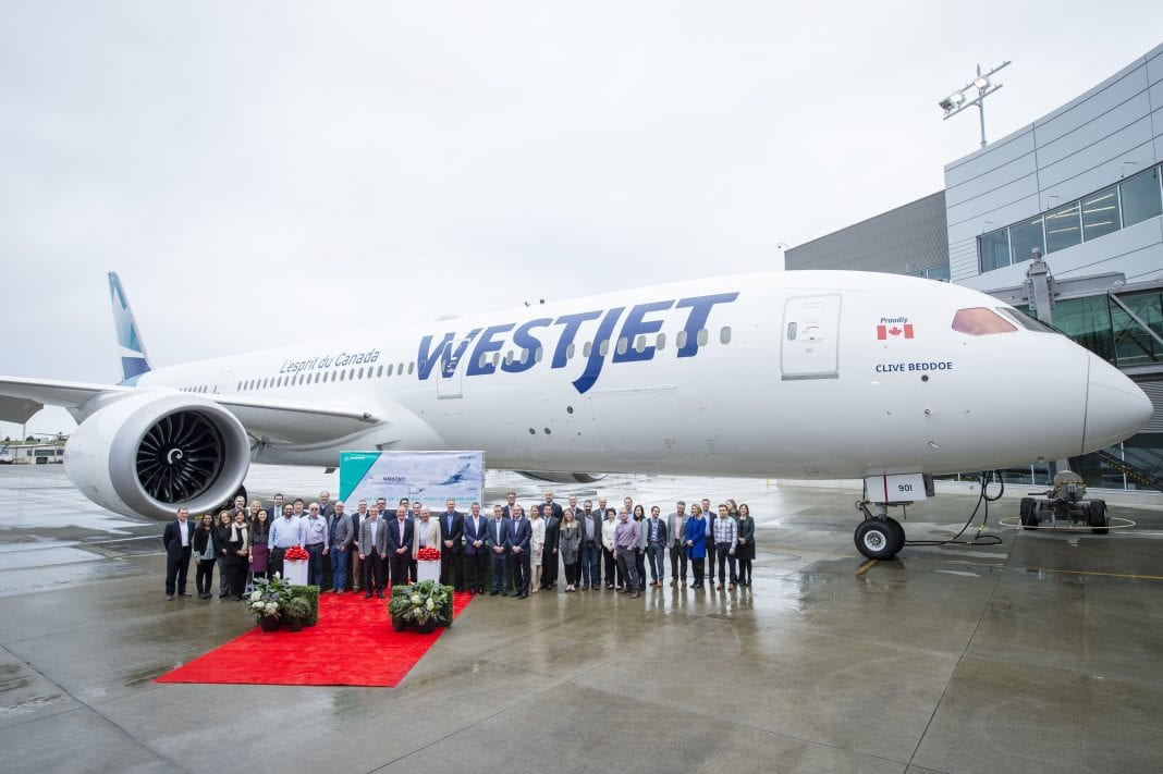 WestJet takes delivery of its first Boeing 787 Dreamliner