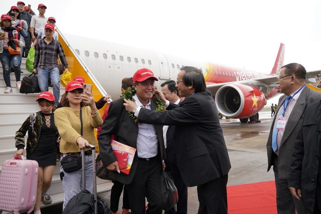 New Vietjet flight links Ho Chi Minh City with Van Don Island district