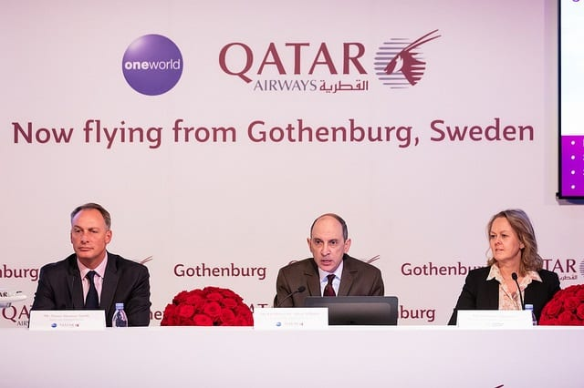 Qatar Airways celebrates the launch of its second Swedish gateway