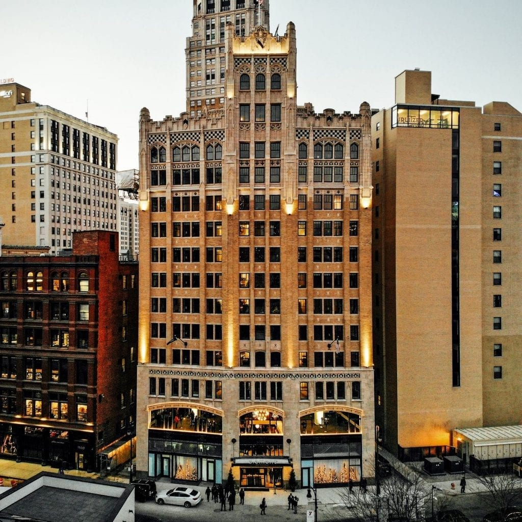 Detroit's neo-Gothic Metropolitan Building becomes first Michigan Element Hotel