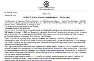 , 'Do not travel': US State Department ups Venezuela travel warning to Level 4, Buzz travel   eTurboNews  Travel News