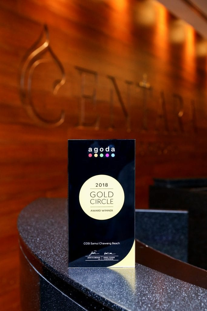 Centara's COSI hotel in Samui wins Agoda Gold Circle award