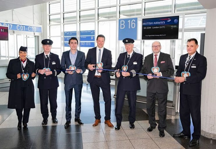 British Airways CityFlyer launches daily service from Munich to London City Airport