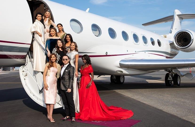 Qatar Airways hosts exclusive fashion show on board Qatar Executive G650 jet