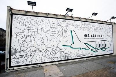 United Airlines giving women artists a larger than life canvas