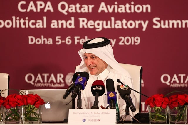 Qatar Airways GCEO delivers keynote address at CAPA Aeropolitical and Regulatory Summit