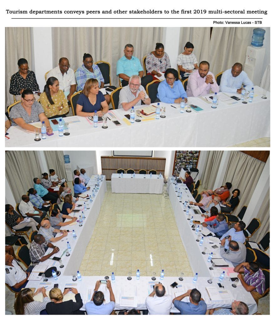 Seychelles Tourism departments conveys peers and other stakeholders to the first 2019 multi-sectoral meeting