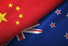 China New Zealand Flag