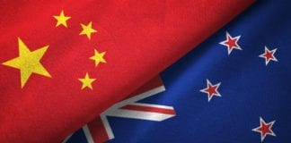 China New Zealand Flag