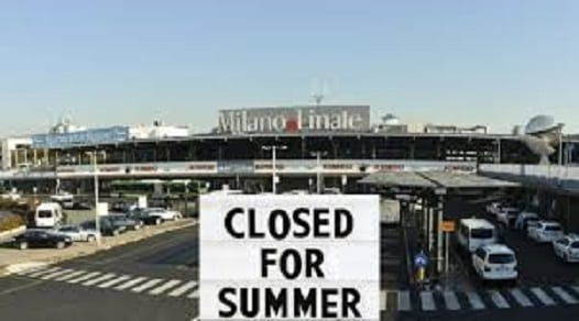 30,000 flights won't be able to land at Milan's Airport Linate during Italy's high summer season