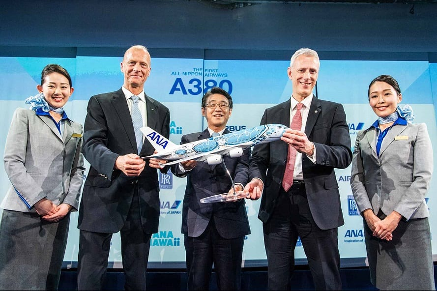 All Nippon Airways takes delivery of its first Airbus A380 Superjumbo
