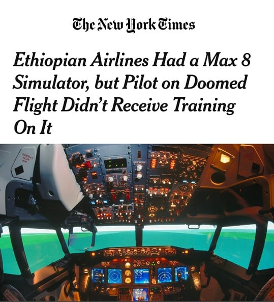 Ethiopian Airlines refutes wrong reporting of the New York Times