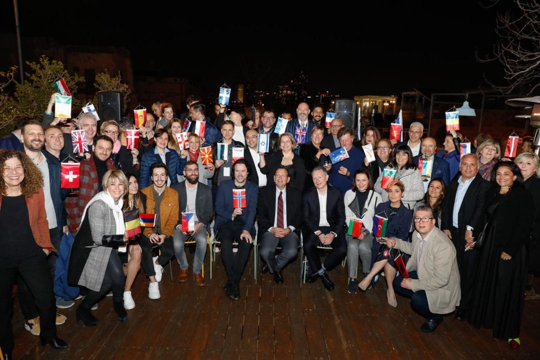 Tel Aviv Mayor hosts delegations from countries participating in 2019 Eurovision Contest