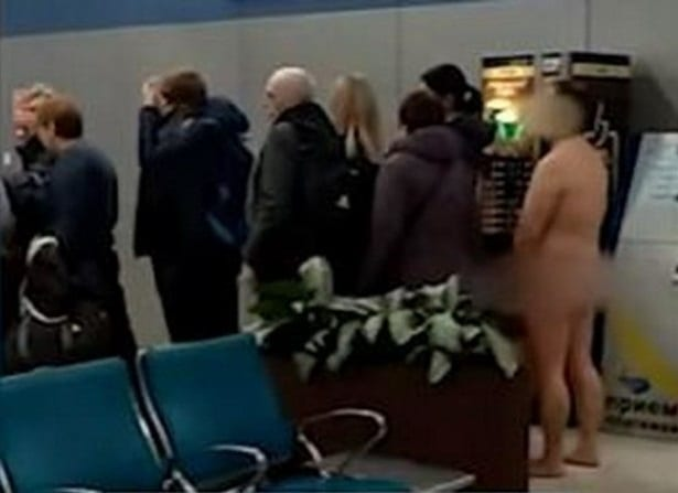 """""""It's easier to fly nude"""": Naked man attempts to board plane in Moscow airport"""