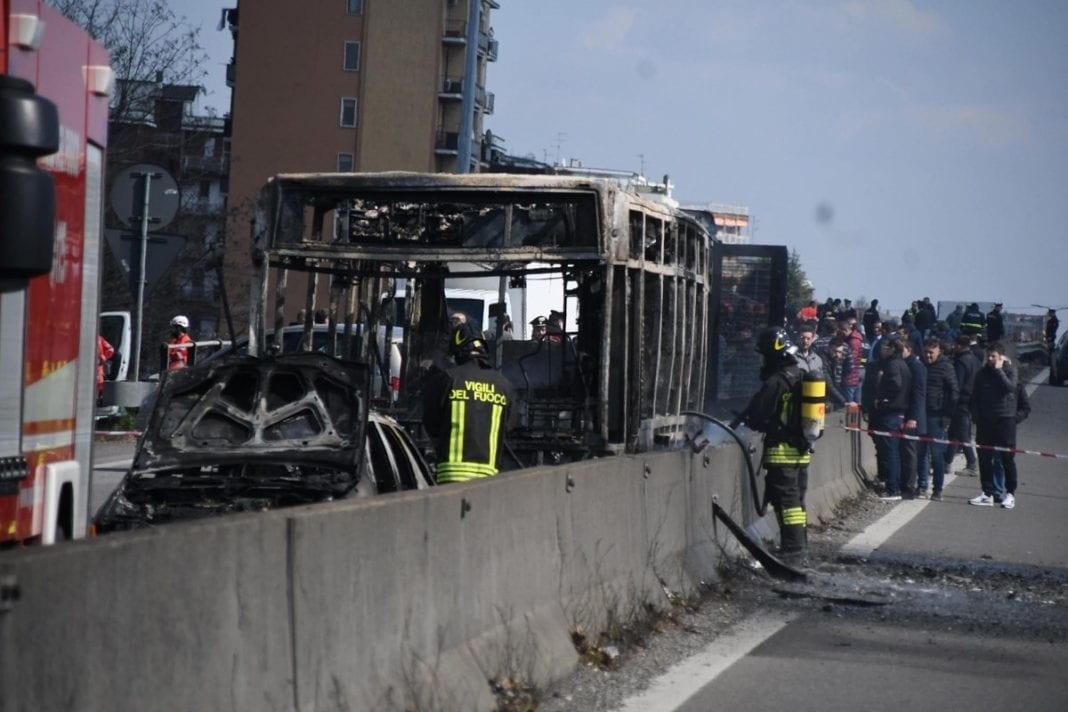Senegalese migrant sets school bus full of children on fire in Italy