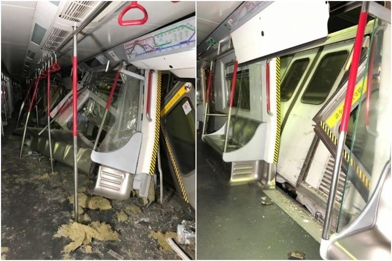 Tsuen Wan Line  Derailed: MTR train in HongKong