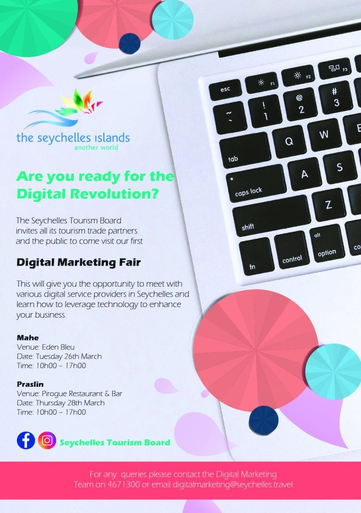, The Seychelles Tourism Board to host the first Digital Marketing Fair in Seychelles, Buzz travel | eTurboNews |Travel News