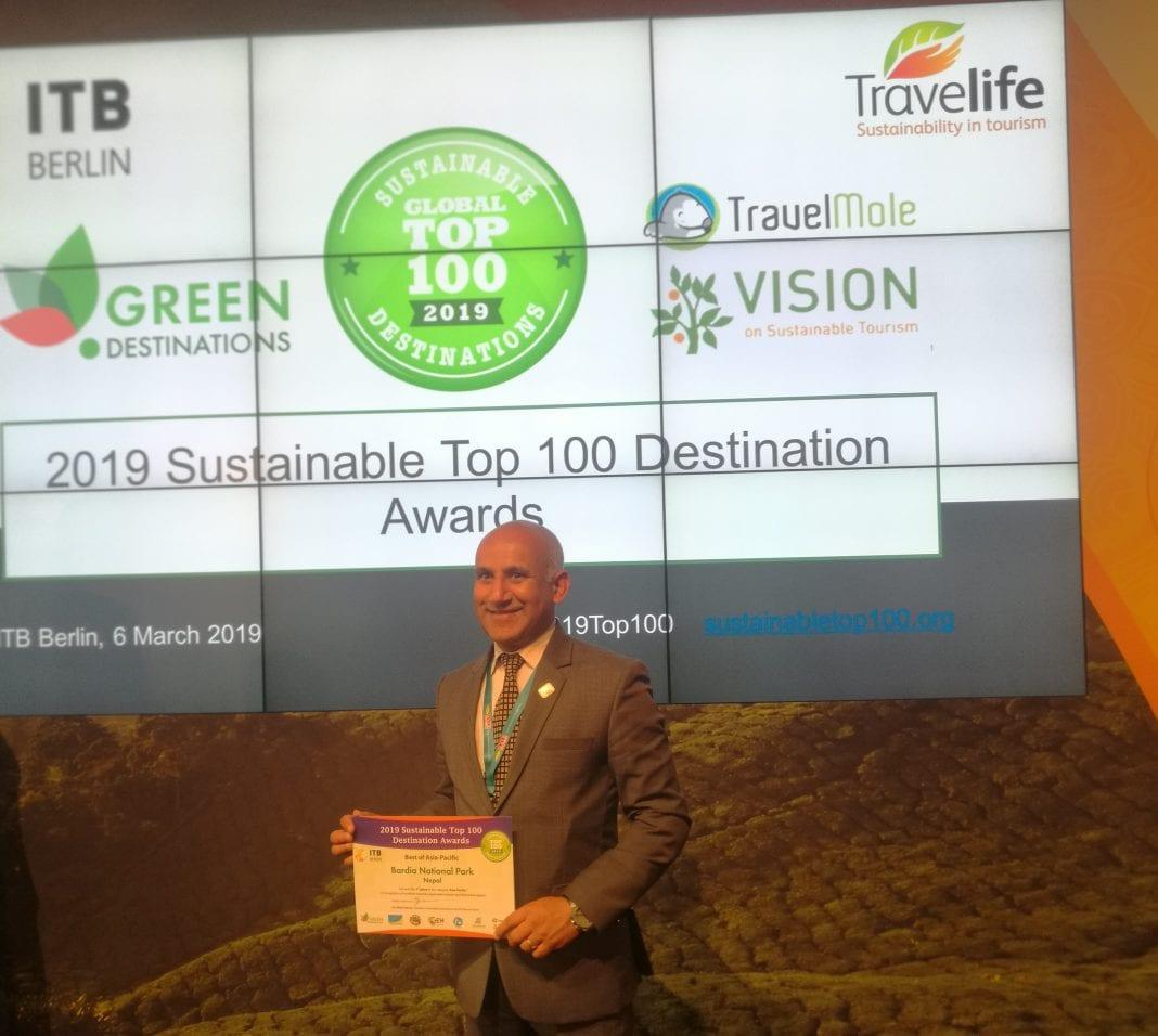 Bardiya National Park gets Sustainable Destination Award at ITB