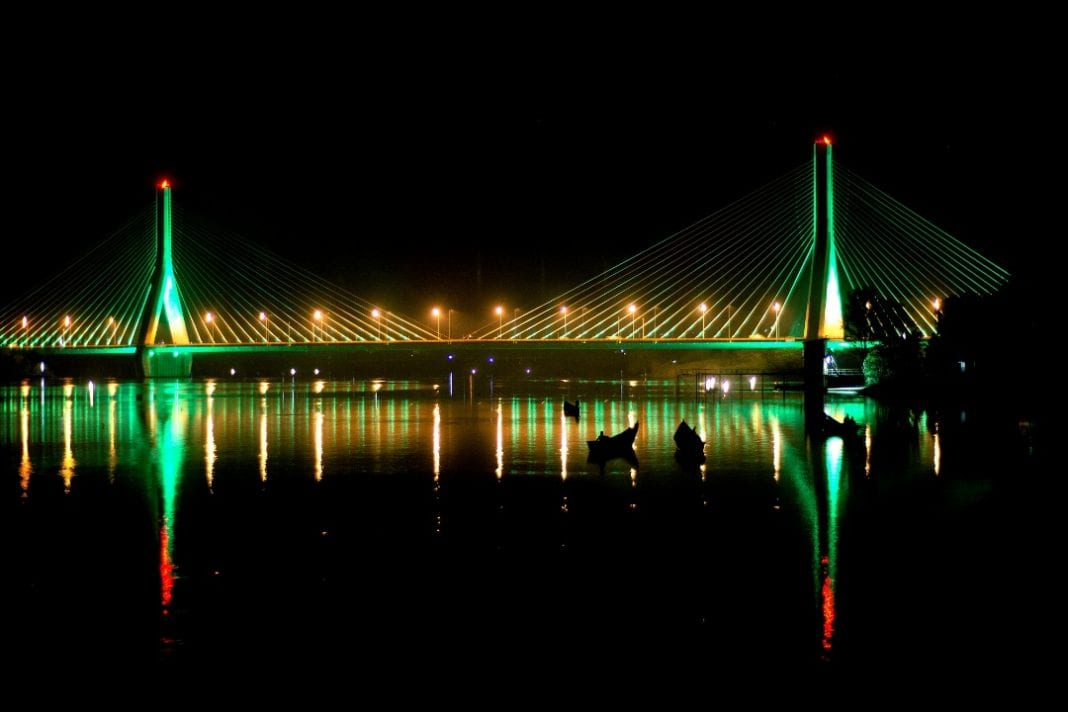 Source of The Nile Bridge part of Global Greening for St. Patrick's Day