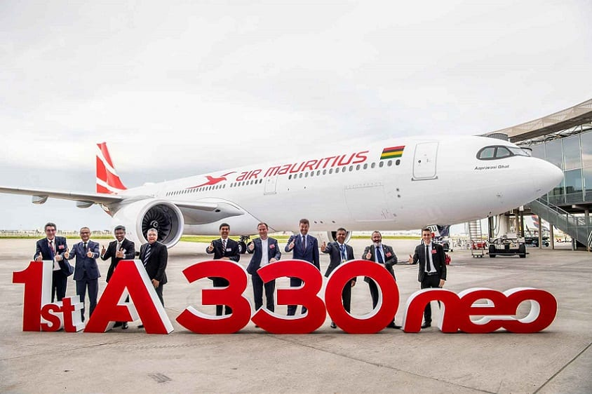 Air Mauritius takes delivery of its first Airbus A330neo jet