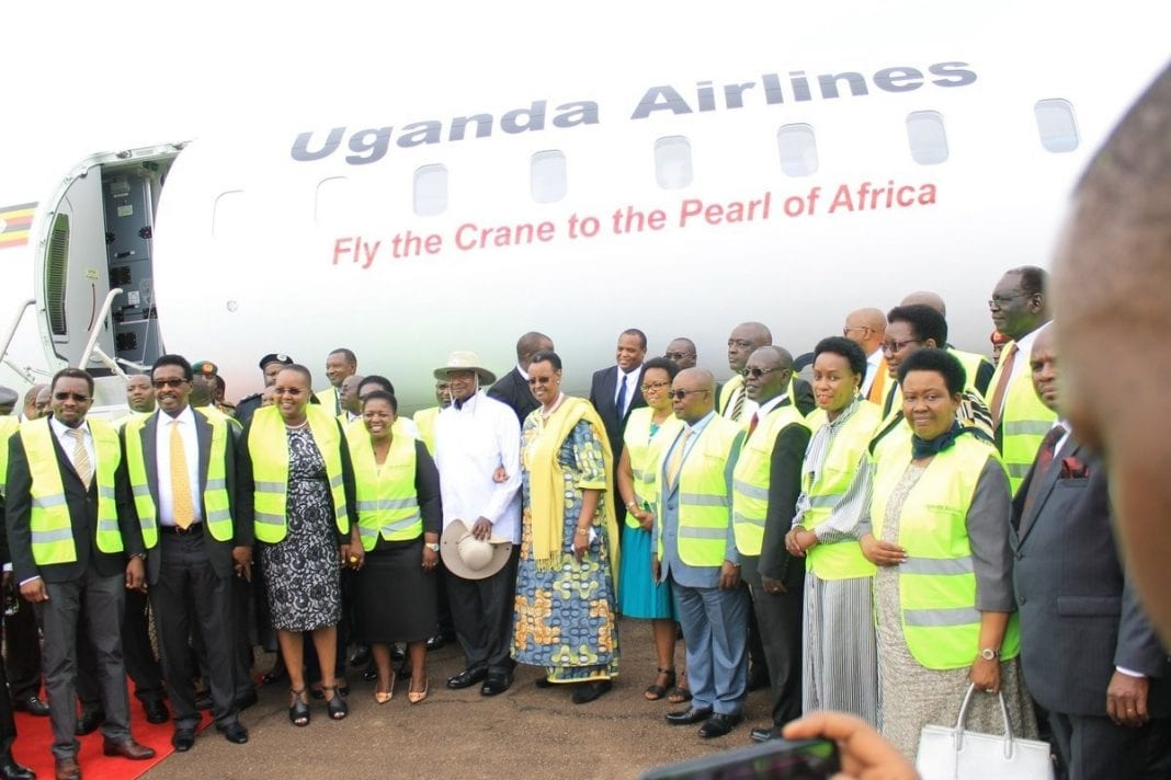 Uganda Airlines' long-awaited new planes land at Entebbe International Airport