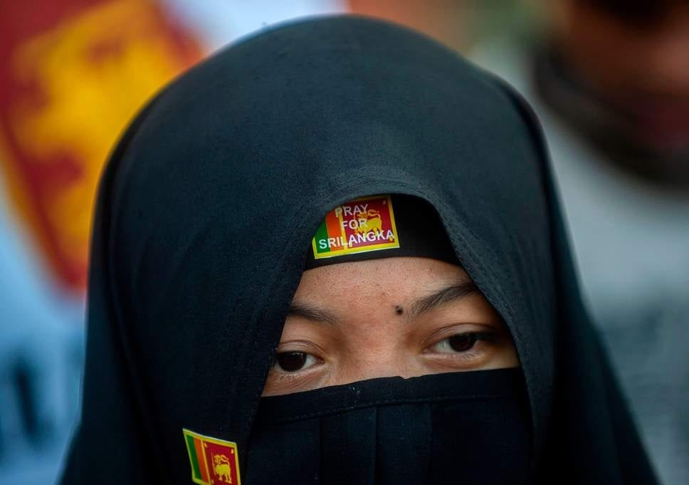 Sri Lanka bans all face coverings after Islamic terrorists kill 253 people in Easter attacks
