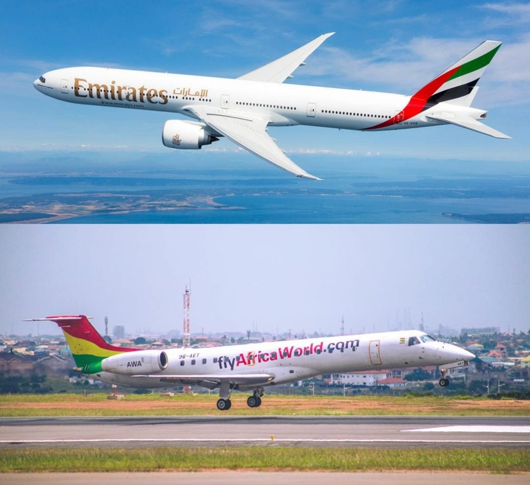 Emirates and Africa World Airlines ink interline agreement