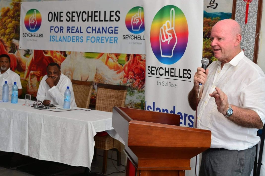 New One Seychelles Party wants Alain St. Ange for President