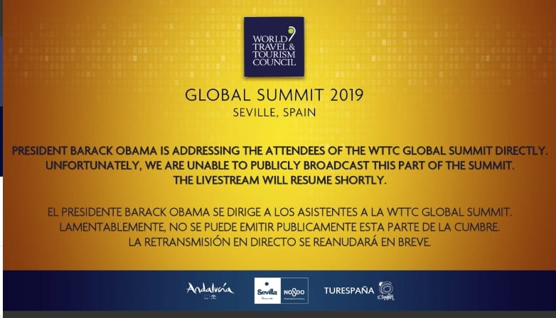 , WTTC Global Summit: President Obama was a disappointment for many, Buzz travel | eTurboNews |Travel News