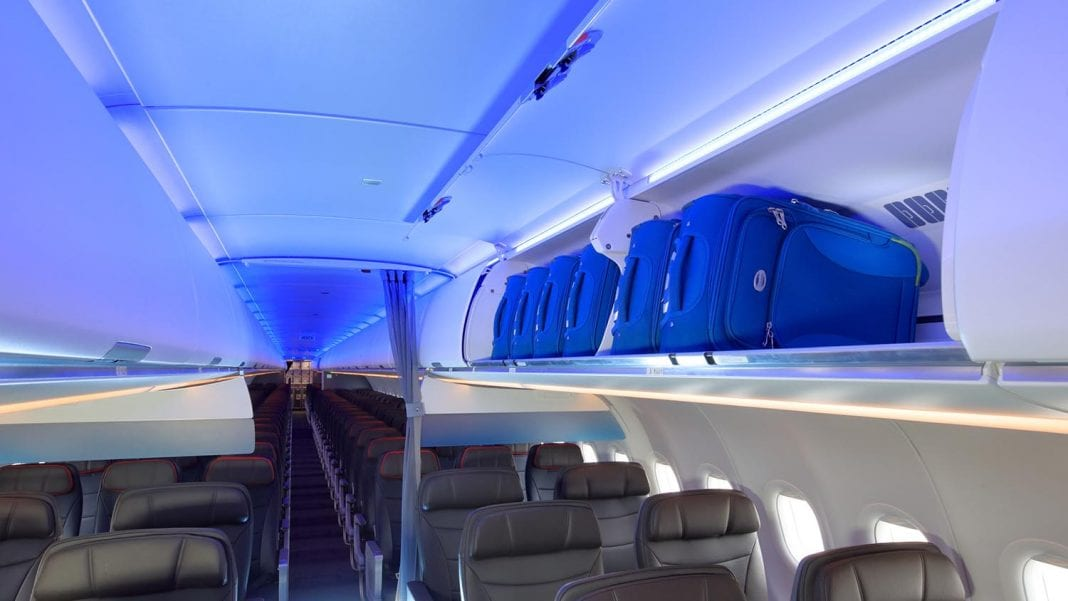 American Airlines: New cabin, larger overhead luggage bins