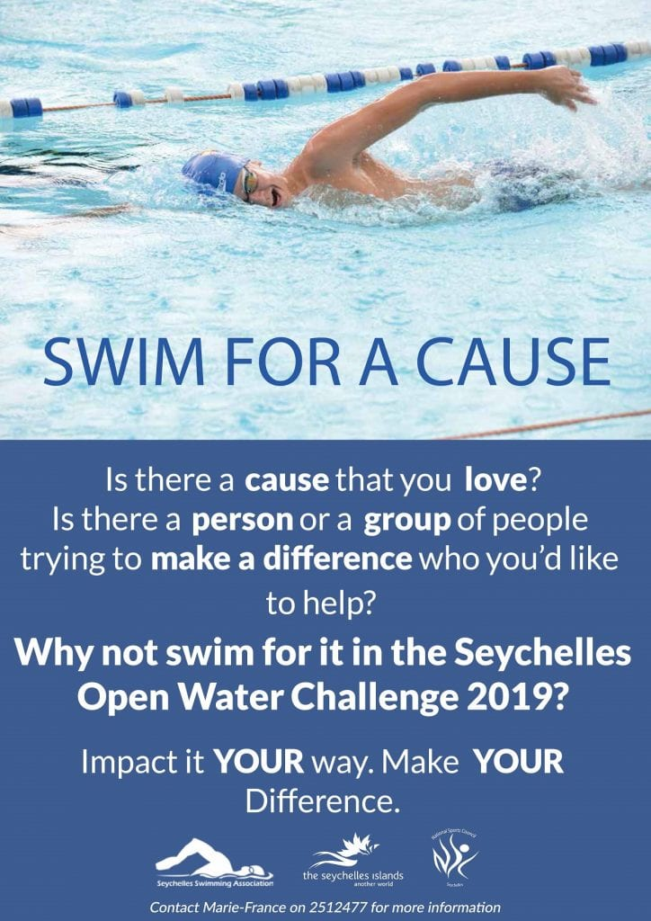"Public generosity called upon to ""Swim for a Cause"" – A Seychelles Open Water Challenge initiative"