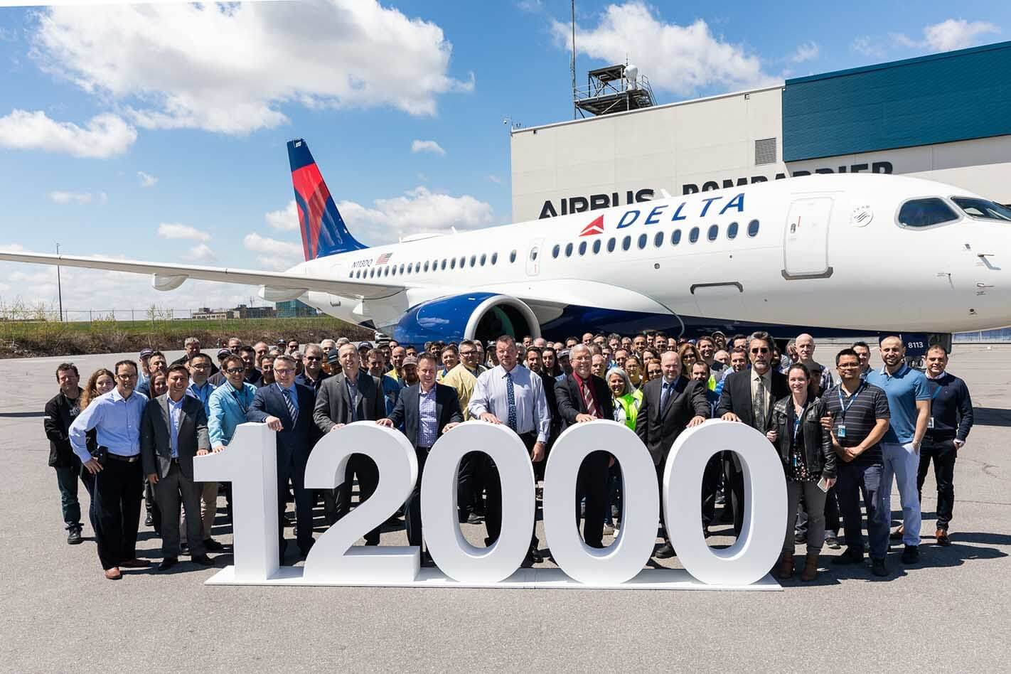 Airbus celebrates delivery of its 12,000th aircraft