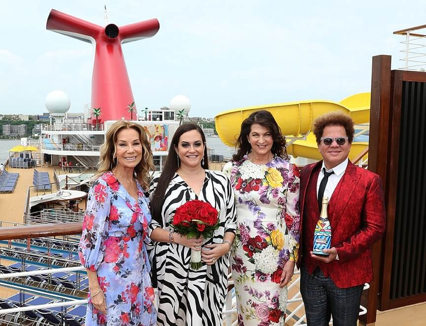 Carnival Sunrise named by godmother Kelly Arison at Manhattan Cruise Terminal
