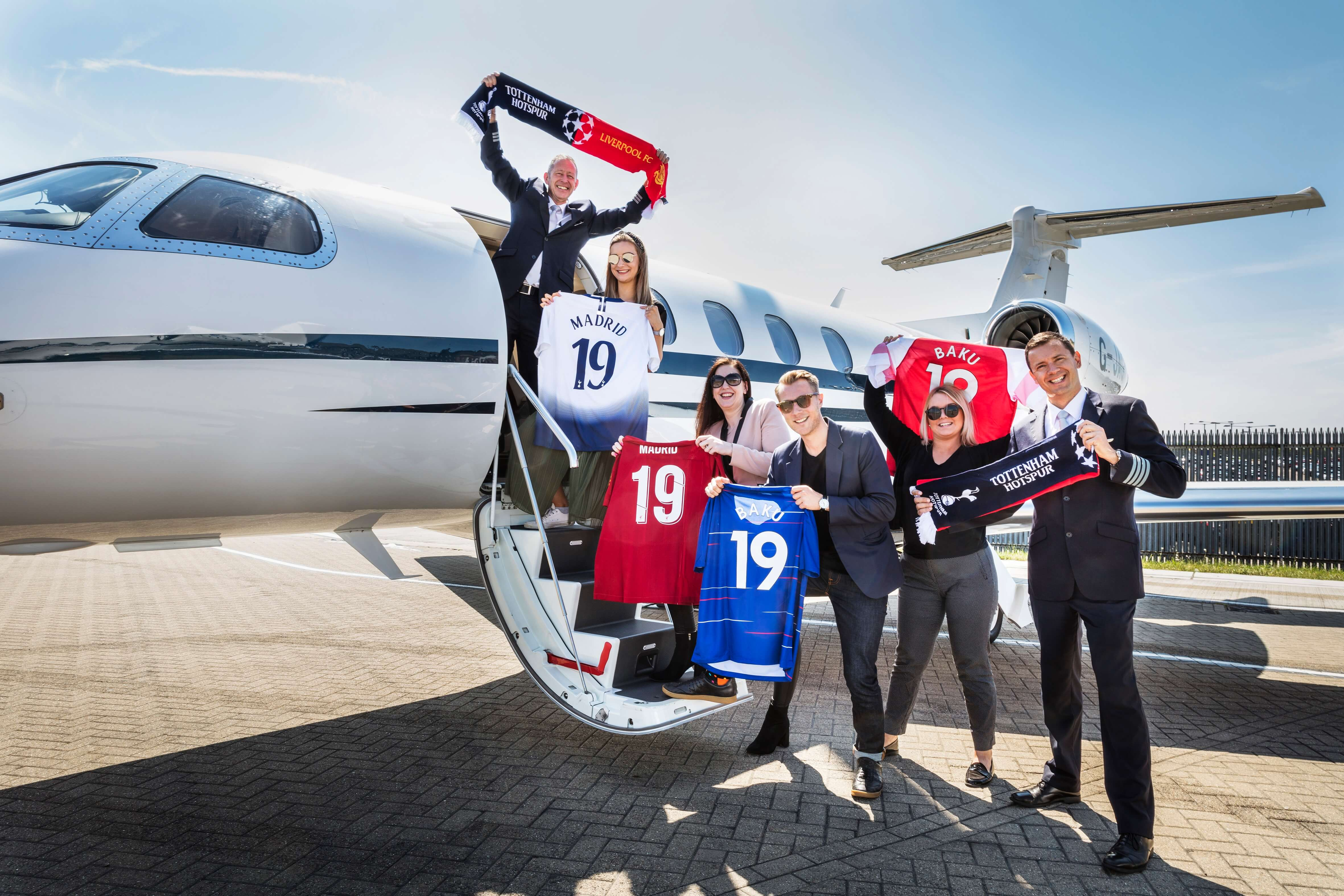 Private jet bookings soar ahead of all-English European football finals