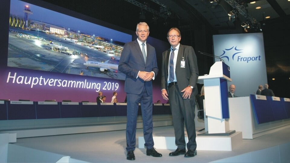 Fraport Annual General Meeting: Shareholders to receive dividend of €2.00 per share