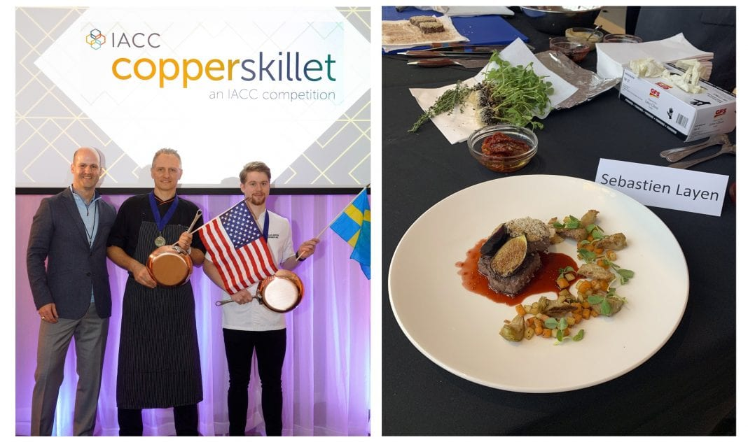 Benchmark's Sebastien Layen named Senior Chef Champion in IACC's Global Copper Skillet Competition