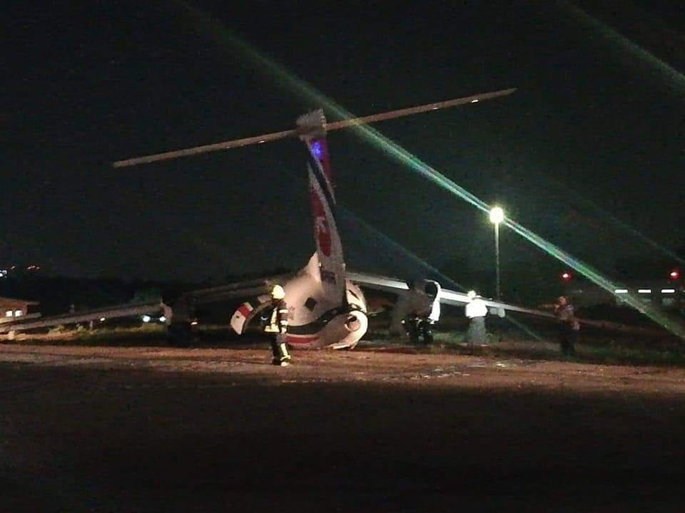 Biman Airlines plane skids off runway at Yangon Airport, breaks into three pieces