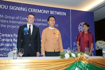, Centara Signs MOU with KMA Hotels for Six Myanmar Hotels, World News | forimmediaterelease.net