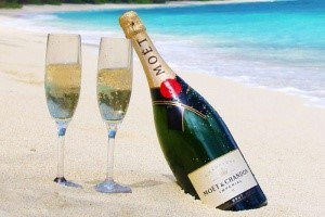 Which island nation consumes the most champagne in Africa?
