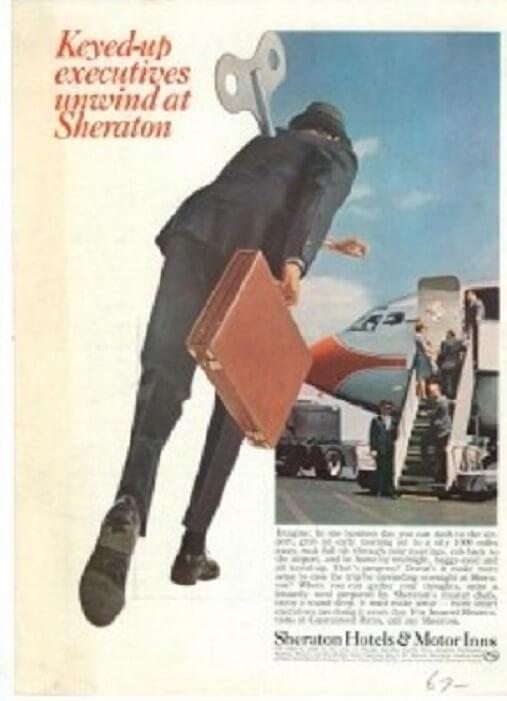 """Hotel History: """"Keyed-up executives unwind at Sheraton"""""""