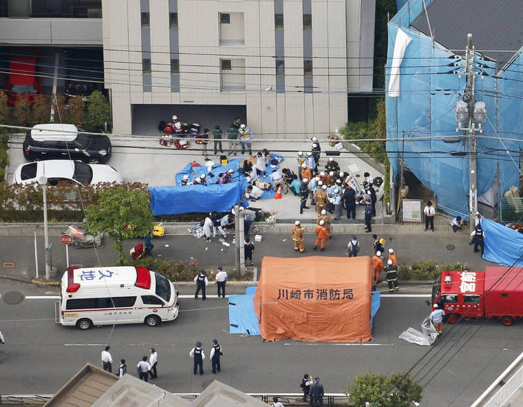 1 child and 2 adults believed dead after Tokyo bus stop stabbing