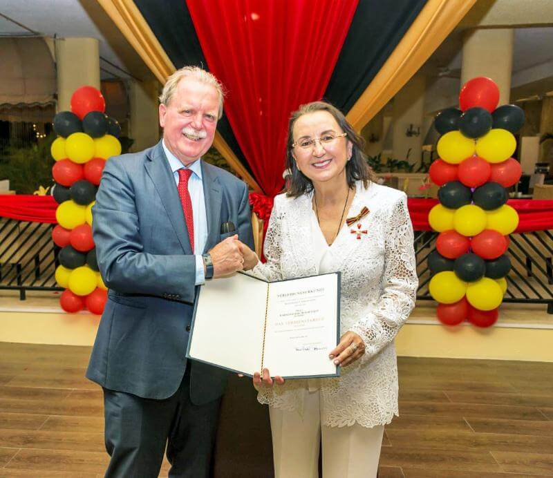 Tourism leader Karolin Troubetzkoy of St. Lucia receives Order of Merit from Germany