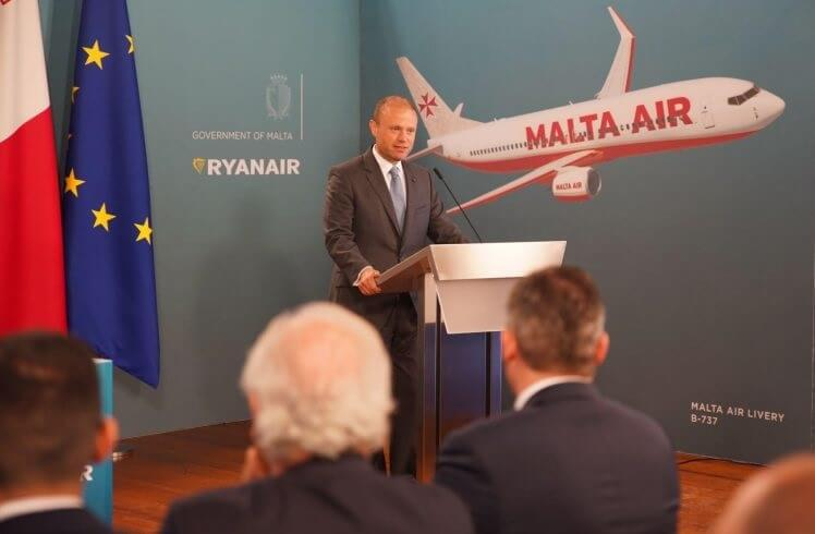 Ryanair acquires Malta Air