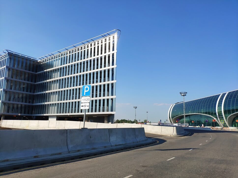Moscow Domodedovo Airport opens new entry to the multilevel car parking