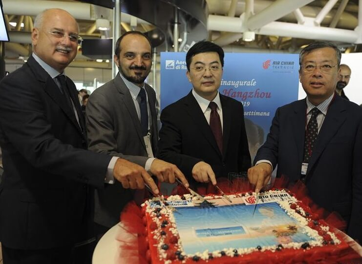 Air China launches direct Rome-Hangzhou flight