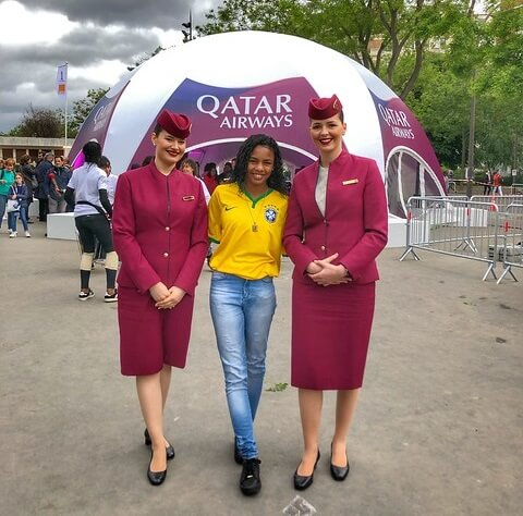 Fifa 2020 World Cup Opening Ceremony.Qatar Airways Celebrates Opening Of Fifa Women S World Cup