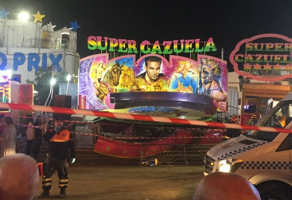 Horror at fun fair: 28 people injured in merry-go-round collapse in Spain