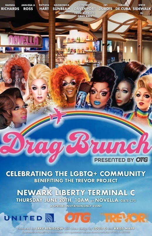 , First ever airport drag brunch hosted by United Airlines & OTG, Buzz travel | eTurboNews |Travel News